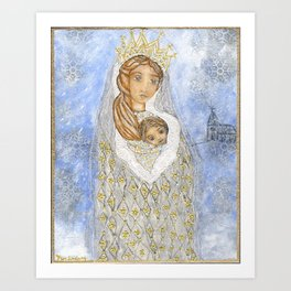 Our Lady of the Snows by Flor Larios Art Print