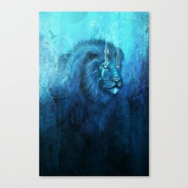 Blue Spirit Lion Canvas Print