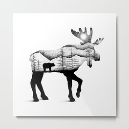 THE MOOSE AND THE BEAR Metal Print
