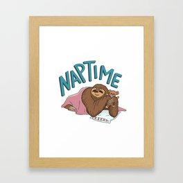 Nap Time Sloth Framed Art Print