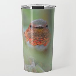 An Allen's Hummingbird Amid Mexican Sage Travel Mug