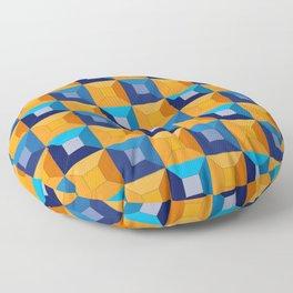 HOMEMADE 70S SQUARE PATTERN Floor Pillow