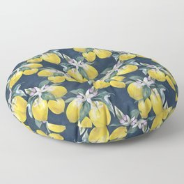 Lemons pattern Floor Pillow