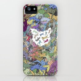 Cats Donut Galaxy - Rainbow Earth iPhone Case