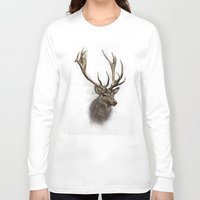 stag Long Sleeve T-shirts featuring stag by emegi