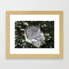 Smart Snow Stone II Framed Art Print