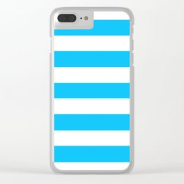 Spiro Disco Ball - solid color - white stripes pattern Clear iPhone Case