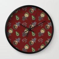 daredevil Wall Clocks featuring Daredevil Pattern by Lockholmes