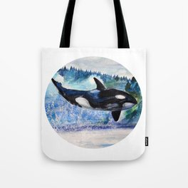 Whale of Freedom Tote Bag