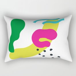 90's beachparty with a flamingo Rectangular Pillow