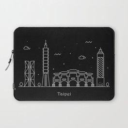 Taipei City Minimal Nightscape / Skyline Drawing Laptop Sleeve