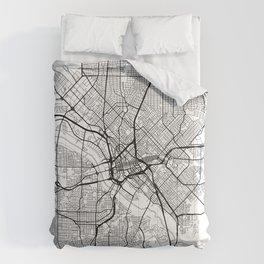 Dallas Map White Comforters