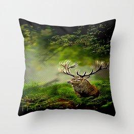 Stunning Deer 05-01 Throw Pillow