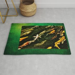 Upstream Dream Nature Portrait by Jeanpaul Ferro Rug