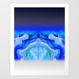 galaxy flow Art Print