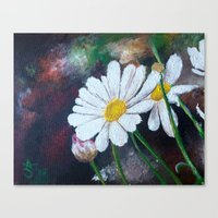 daisies Canvas Prints featuring Daisies  by ANoelleJay