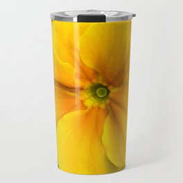 Yellow Heartsease Flower Travel Mug