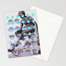Statue With A Dot Gradient 2 Stationery Cards