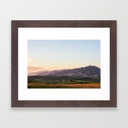 Bridger Range Framed Art Print