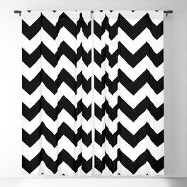 Chevron (Black/White) Blackout Curtain