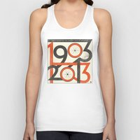 tour de france Tank Tops featuring 100 Years of The Tour de France by Dushan Milic