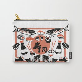 Sushi And Soy Sauce Carry-All Pouch