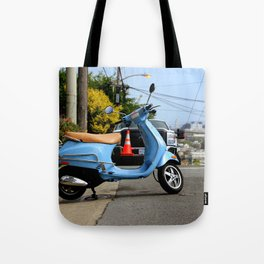 Caution - It's Downhill From Here Tote Bag