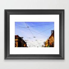 Queen Street Grid Framed Art Print