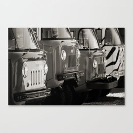 Forward Control Jeeps Canvas Print