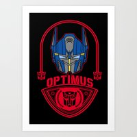 optimus prime Art Prints featuring Optimus by Buby87