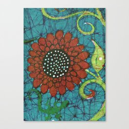Kate's Flower Batik Canvas Print