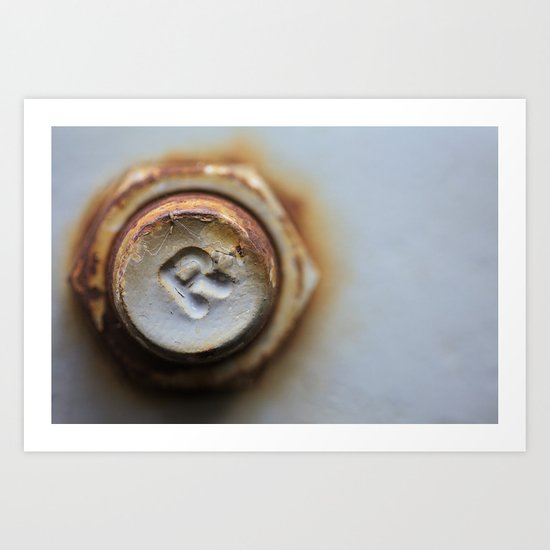 R Bolted Art Print