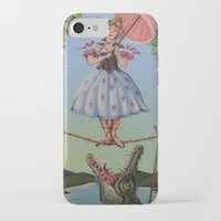 haunted mansion iPhone & iPod Cases featuring Haunted Mansion Portrait: Trapeze Girl by Jonathan R. Lopez