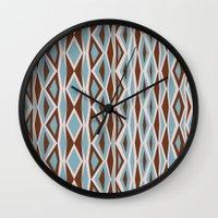 diamonds Wall Clocks featuring Diamonds by ghennah