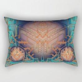 Ayahuasca - Geometric Design - Fractal - Manafold Art Rectangular Pillow