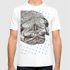 Pug Life Mens Fitted Tee White MEDIUM