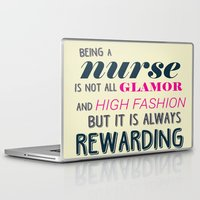 nurse Laptop & iPad Skins featuring NURSE by I Love Decor
