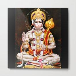 Hanuman Hindu Monkey God 4 Metal Print
