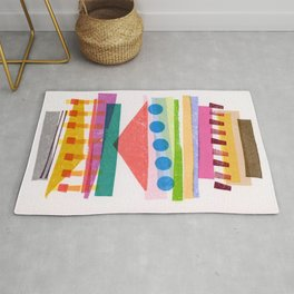 Colorful Geometric Stack Rug