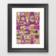 Funky Love Framed Art Print
