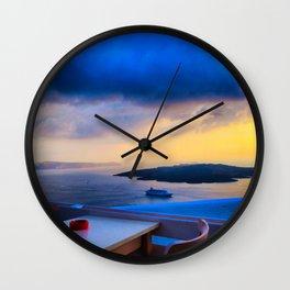 Santorini 25 Wall Clock