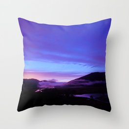 Valley Sunset Throw Pillow