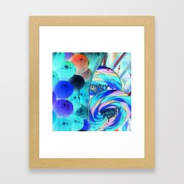 Lollipops & Gumballs Framed Art Print