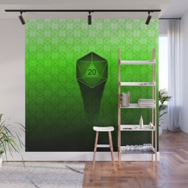 D20 All I Do Is Crit!  Green Ombre Wall Mural