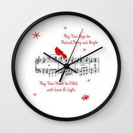 Merry Music and Red Bird Wall Clock