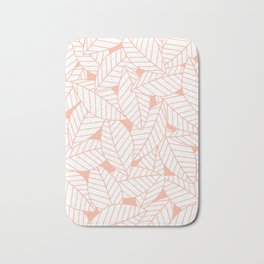 Leaves in Creamsicle Bath Mat