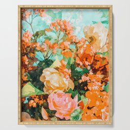 Blush Garden #painting #nature #floral Serving Tray