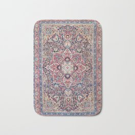 Kashan Central Persian Rug Print Bath Mat