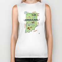 indiana Biker Tanks featuring INDIANA by Christiane Engel