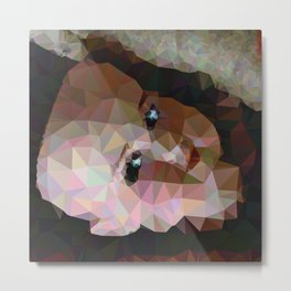 Geometric Doll Head Metal Print